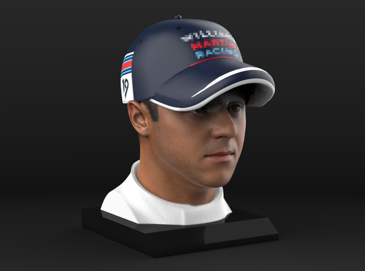 Felipe 1/4 Head Figure 3d printed