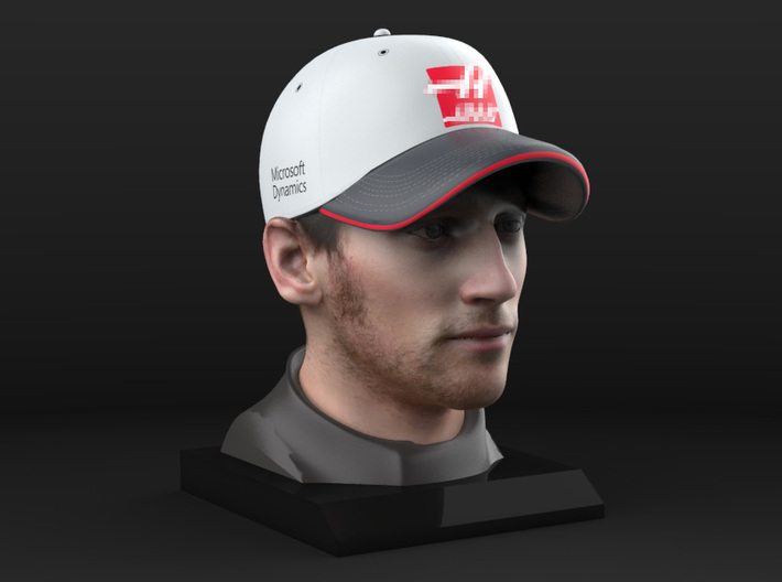 Romain 1/4 Head Figure 3d printed