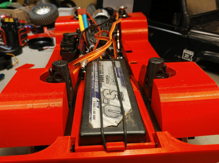 3Racing EX Real Relocation Battery Tray 3d printed