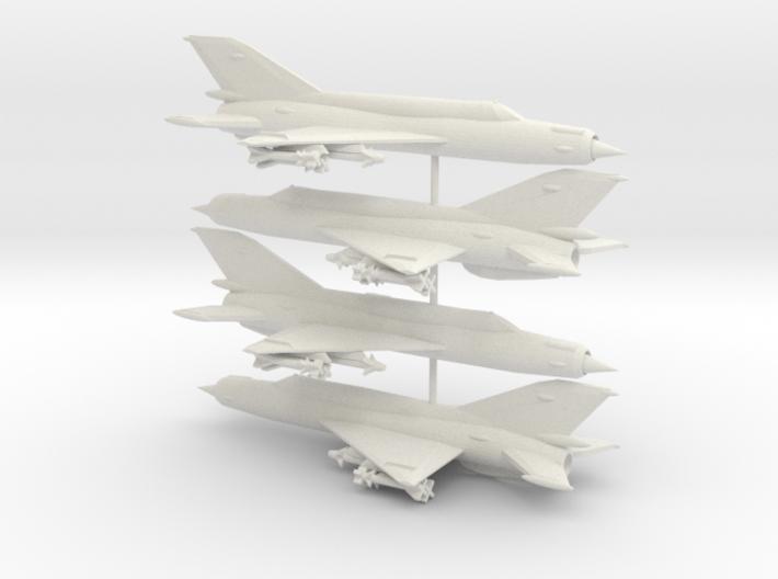 1-285 MiG-21bis 'Fishbed-N' x4 3d printed