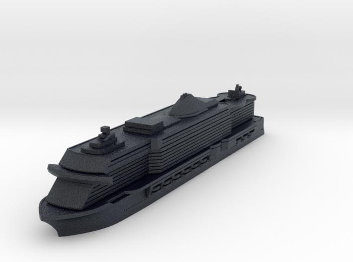 Miniature MSC Seaside Cruise Ship - 10cm 3d printed