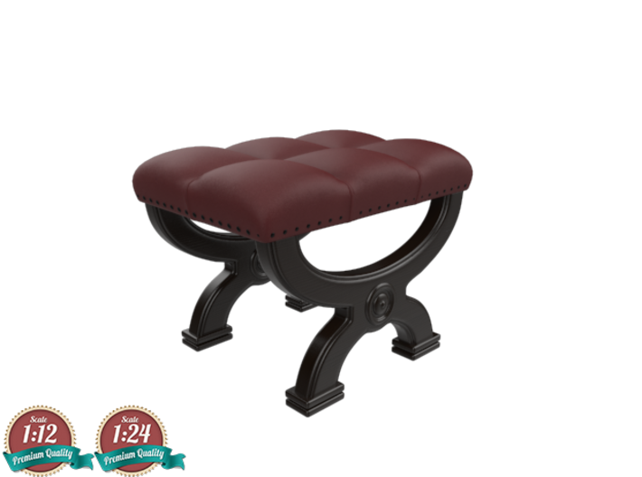 Miniature Poof Halle Ottoman - Gramercy Home 3d printed Miniature Poof Halle Ottoman - Gramercy Home