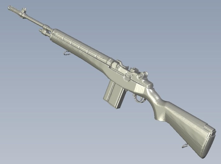 1/24 scale Springfield Armory M-14 rifles x 3 3d printed