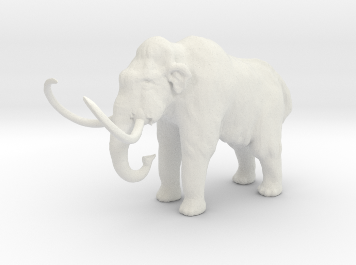 S Scale Woolly Mammoth 3d printed This is a render not a picture