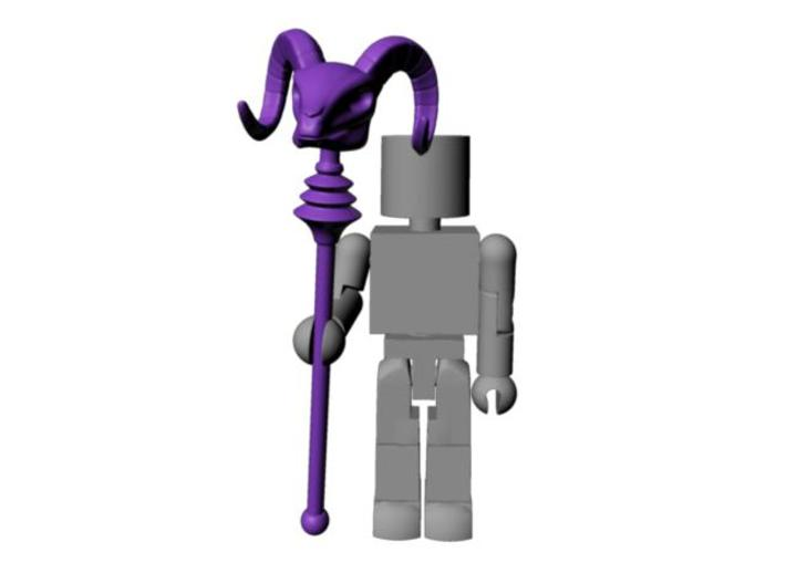 Skeletor's Havoc Staff scaled for Minimates 3d printed