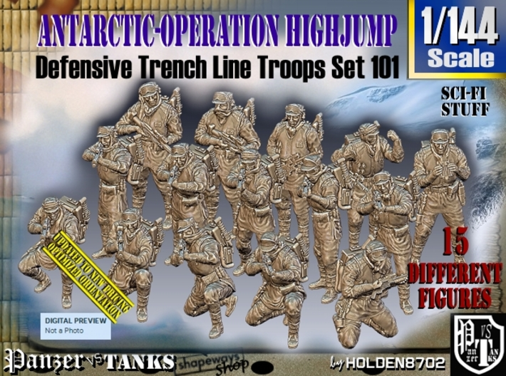 1/144 Antarctic Troops Set101 3d printed