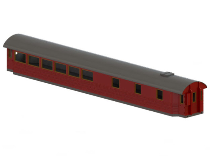 Ro3 version 1 - Swedish passenger wagon 3d printed CAD-model