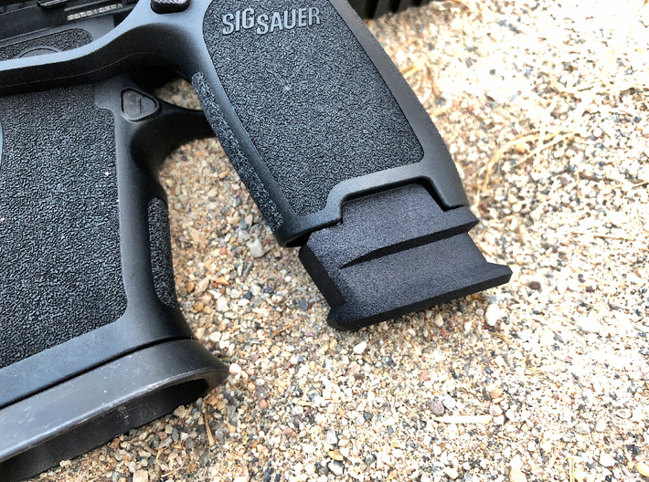 SIG P320 Extended X Frame Base Pad - Round 3d printed Black Professional