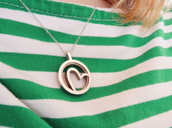 Heart - Silver 3d printed
