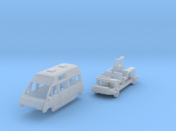 Renault Trafic T1000D Camper Van (British N 1:148) 3d printed