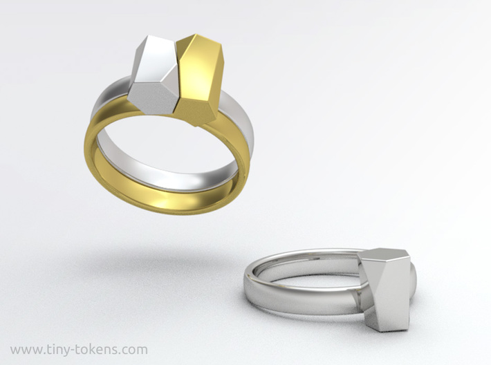 Scutoid Packing Ring  3d printed Use two of these rings to experience scutoid stacking