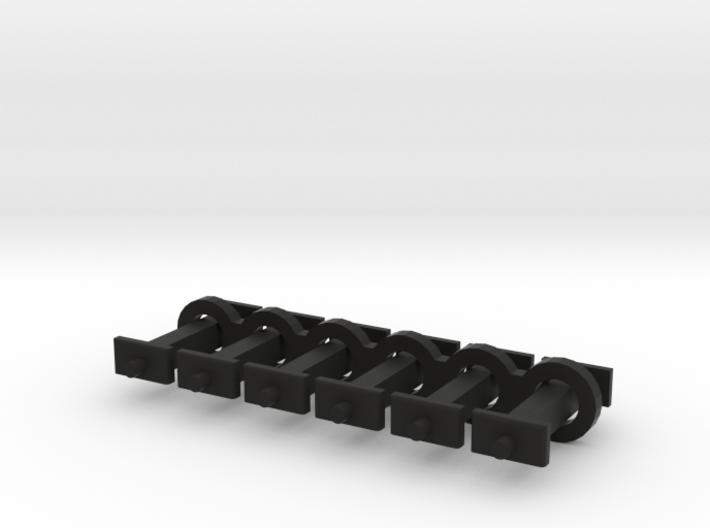 N Scale 9mm Fixed Coupling Drawbar x6 3d printed