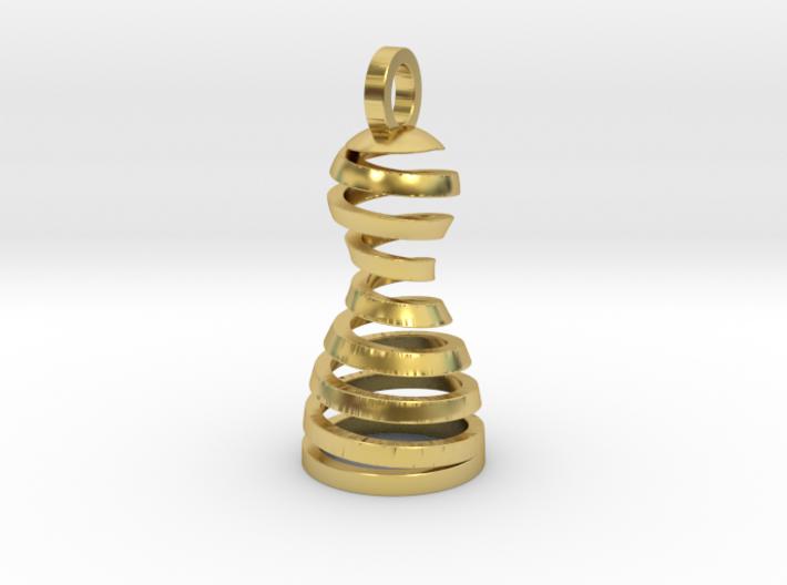 Spiral Pawn Pendant 3d printed