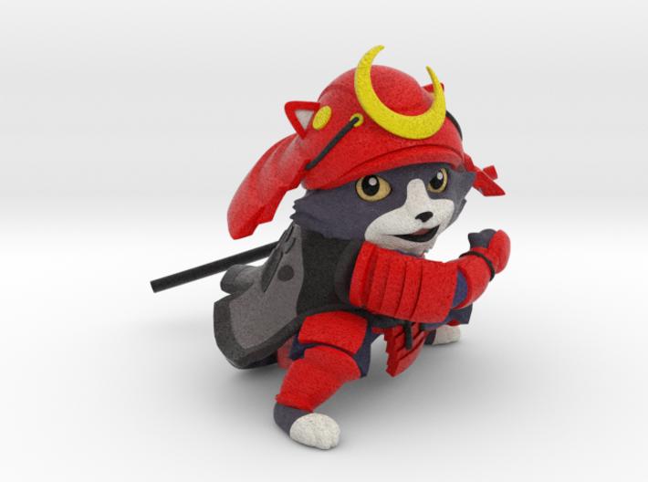 samurai cat (solid) 3d printed
