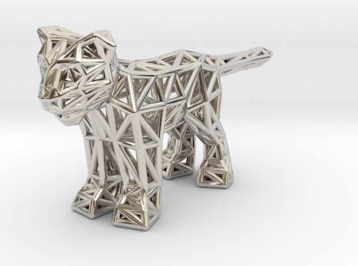 Lion (young) 3d printed