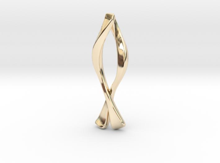 Ichthys Pendant - Christian Jewelry 3d printed