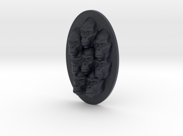 Gorilla Multi-Faced Caricature (001) 3d printed