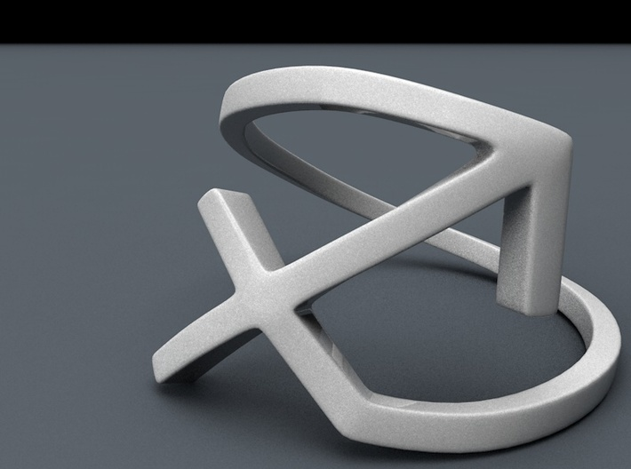 Sagittarius Symbol Ring - Sagittarius Zodiac Ring 3d printed