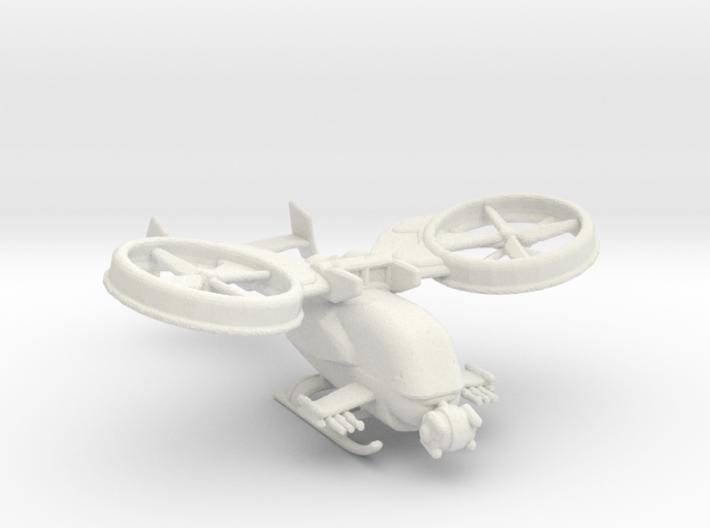 gunship v1 160 scale 3d printed