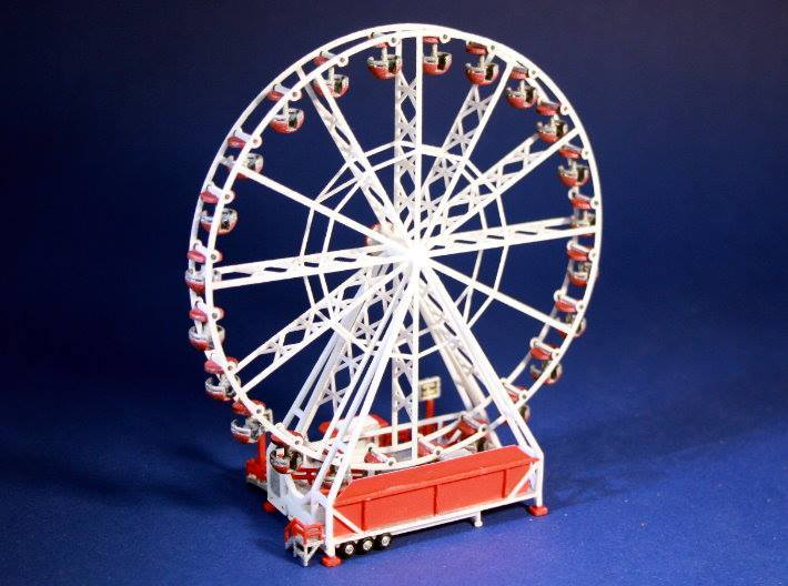 Riesenrad Version 2 - 1:220 (z scale) 3d printed design proposal - Gestaltungvorschlag