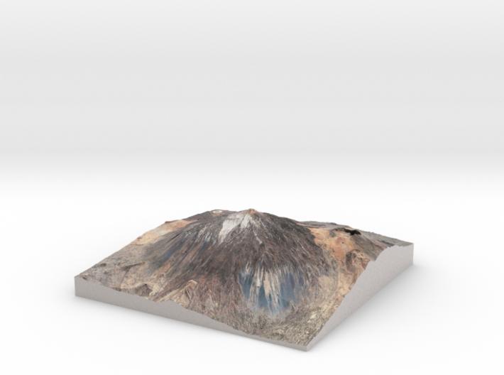 Pico del Teide Map, 1:30,000 3d printed