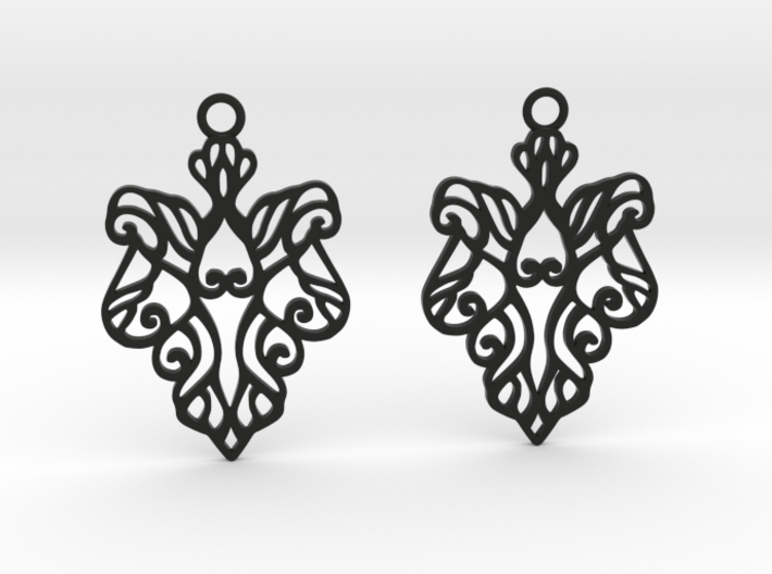 Alarice earrings 3d printed