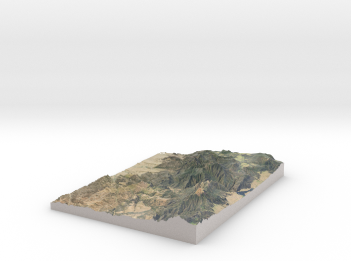 Philmont Scout Ranch Map, New Mexico 3d printed