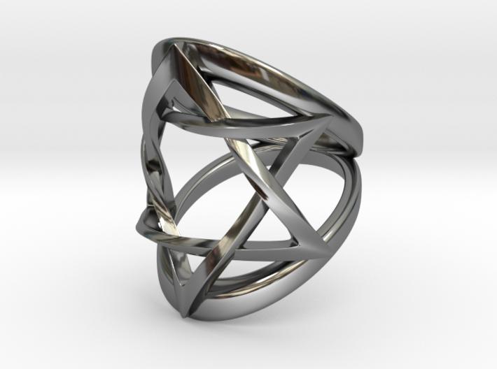 Ring Magen David Size 6 3d printed