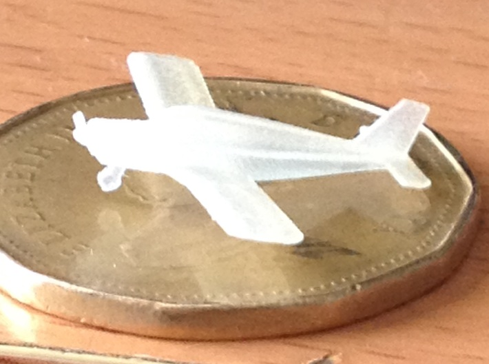 1:400 scale Piper PA28 Cherokee 3d printed Unpainted