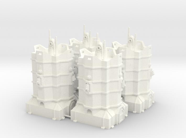 [Tiny Titans] 4x Coms Relay Bastions  3d printed