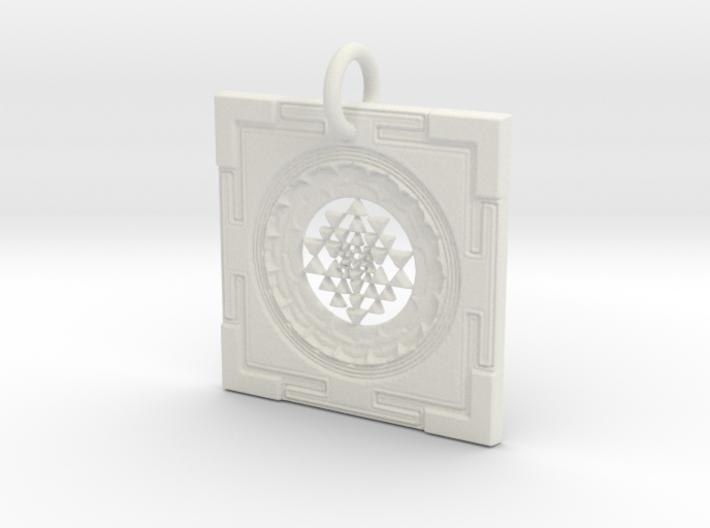 Sri Yantra Pendant 3d printed