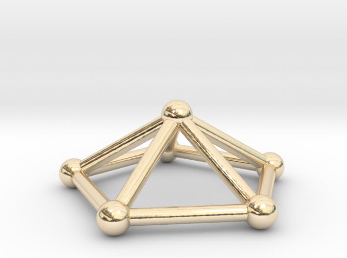 0723 J02 Pentagonal Pyramid V&E (a=1cm) #2 3d printed