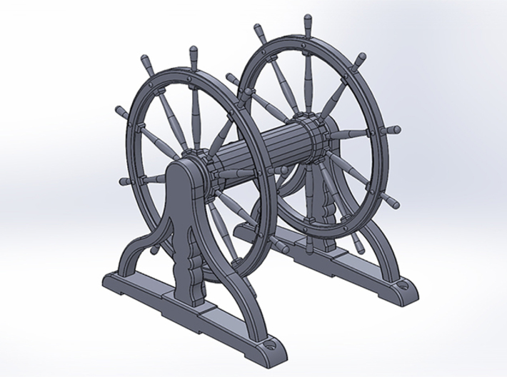 Ship's Wheel Drum 1:24 scale 3d printed