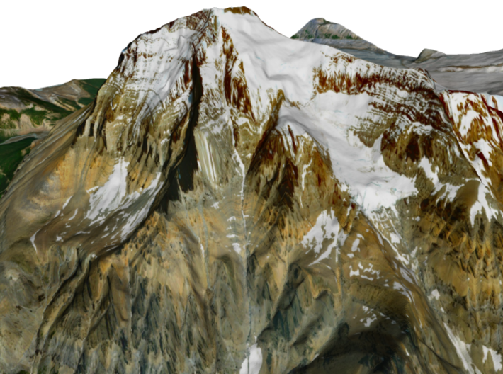 "Mount Robson Map: 6"" 3d printed"