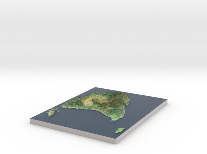 Tasmania Map, Australia 3d printed