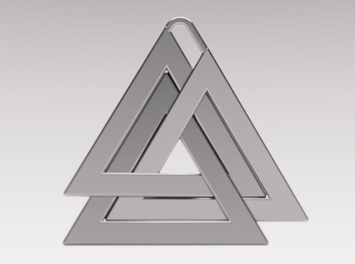 Valknut Pendant - Viking Symbol  3d printed The back of the pendant also looks great and gives you the option to wear it either way
