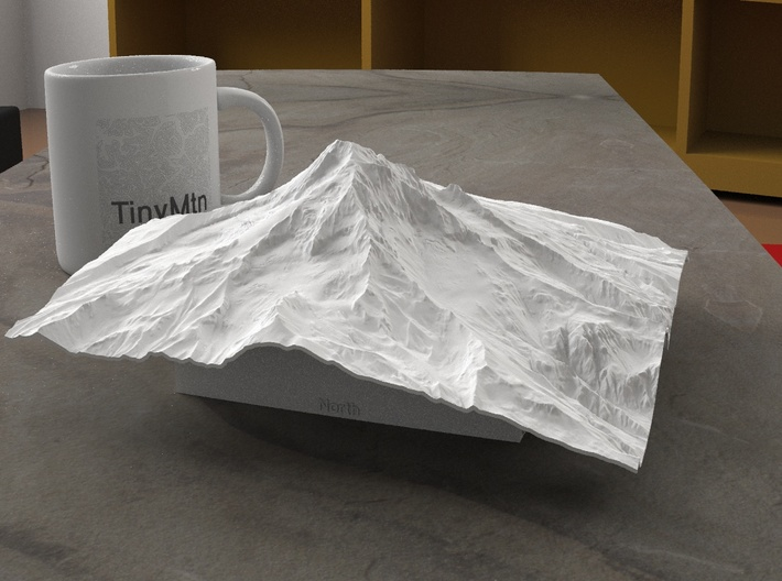 8'' Mt. Hood, Oregon, USA 3d printed