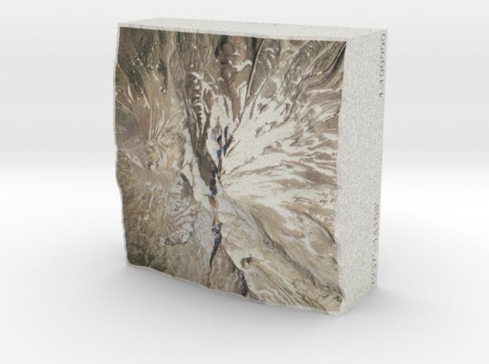 Mt. Shasta, California, USA, 1:100000 Explorer 3d printed