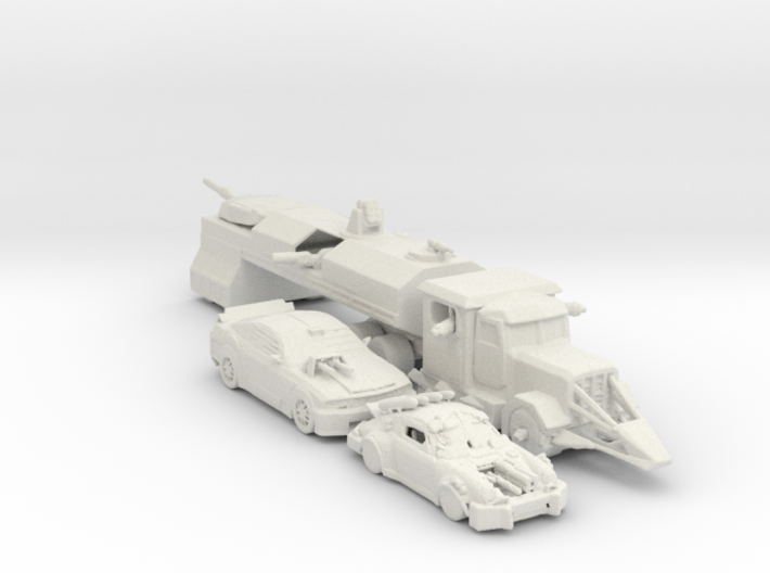 Death Race cars and Truck 160 scale 3d printed