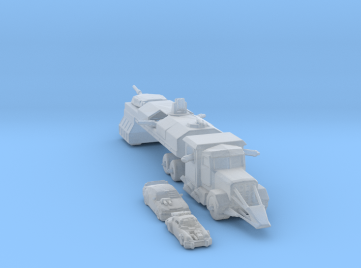 Death Race cars and Truck 285 scale 3d printed