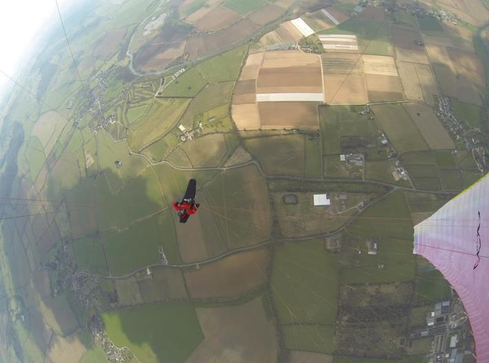 Magnetic GoPro Mount  with back mount for fabric,  3d printed Paragliding -snaped below the canopy (Alan in the UK)