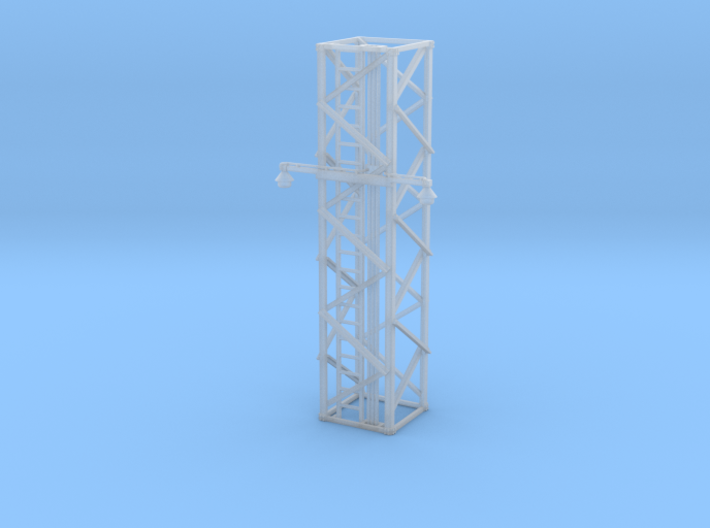 Light Tower Middle With Single Arm Lights 1-87 HO 3d printed