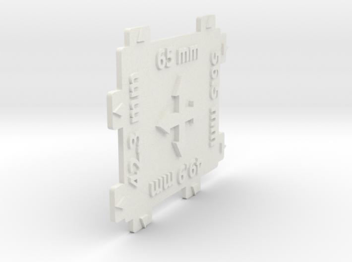 HO gauge 4 Way Track Spacer 1:87 scale 3d printed