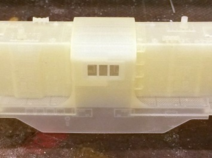 Baldwin DT6-6-2000 Center Cab N Scale 1:160 3d printed Cleaned Shell