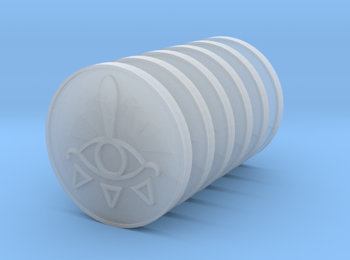 6x Tiny Zelda Coins  3d printed
