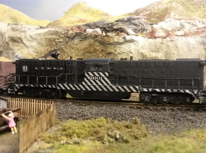 Baldwin DT6-6-2000 Center Cab N Scale 1:160 3d printed Finished Shell