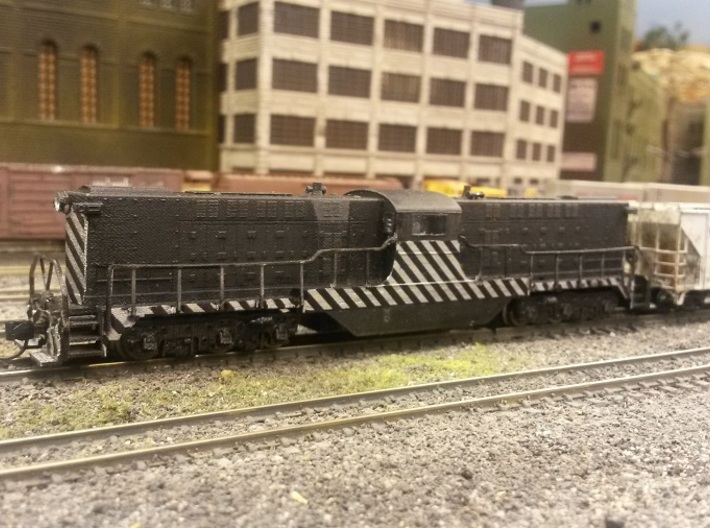 Baldwin DT6-6-2000 Shell Only N Scale 1:160 3d printed Shell With Handrails