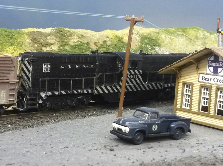 Baldwin DT6-6-2000 Shell Only N Scale 1:160 3d printed Finished Shell