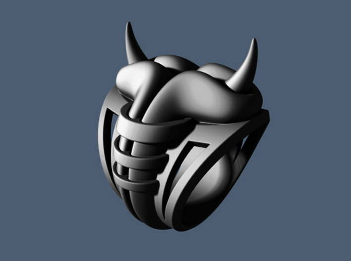 Horn Ring - Size 12 (21.39 mm) 3d printed