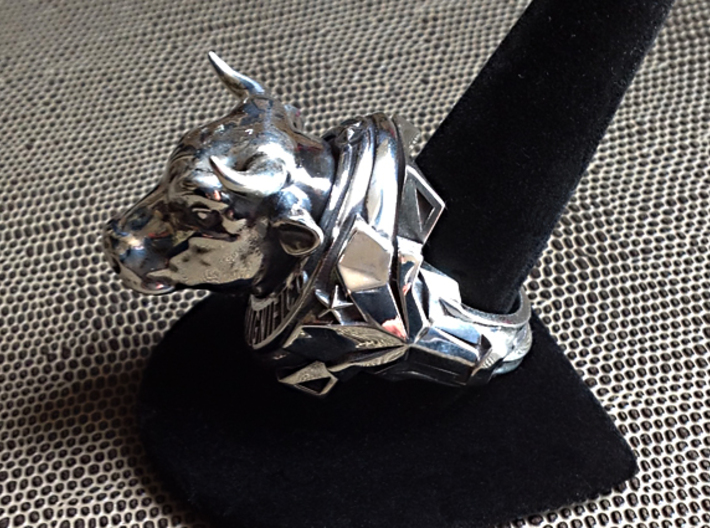 El Toro Magnifico - Size 12 1/2 (21.79 mm) 3d printed Polished Silver